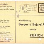 Bestellkarte 1957
