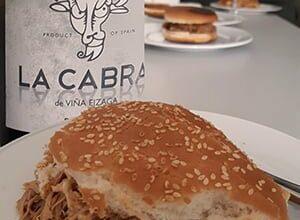 Pulled Porc und Viña Eizaga La Cabra