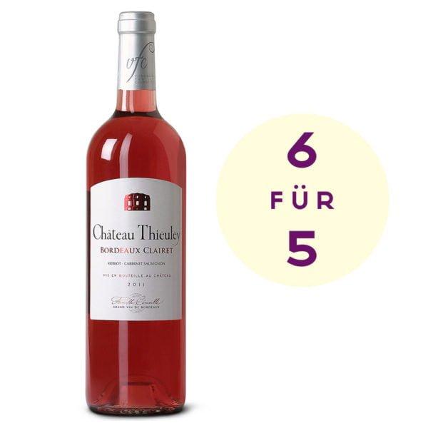 6 für 5 Château Thieuely Clairet_Rosé_Albert Reichmuth AG - Weinhaus seit 1932