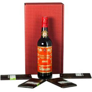 Sherry Moscatel und Schokolade - Weingeschenk Albert Reichmuth AG