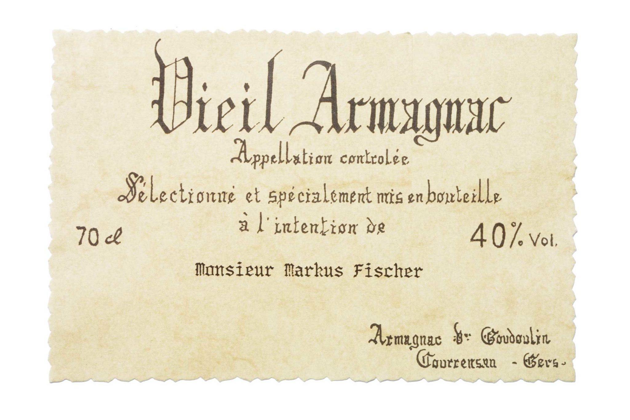 Etikette_Armagnac_Individuell beschreibbar