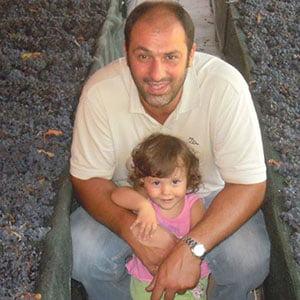 Giuseppe Scala mit seiner Tochter auf Santa Venere